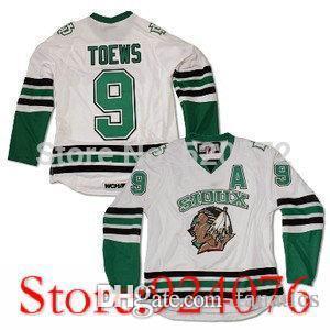 2019 Men S University  9 JONATHAN TOEWS Jersey NORTH DAKOTA Fighting Sioux  Home Hockey Jerseys White Customized Embroidery XXS 6XL From Fanatics f53185827