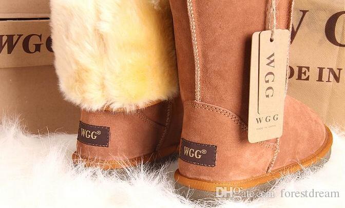 Livraison gratuite 2016 Haute Qualité WGG U Femmes Classique Grandes Bottes Femmes Bottes Boot Snow bottes D'hiver bottes en cuir bottes botte US TAILLE 5--12
