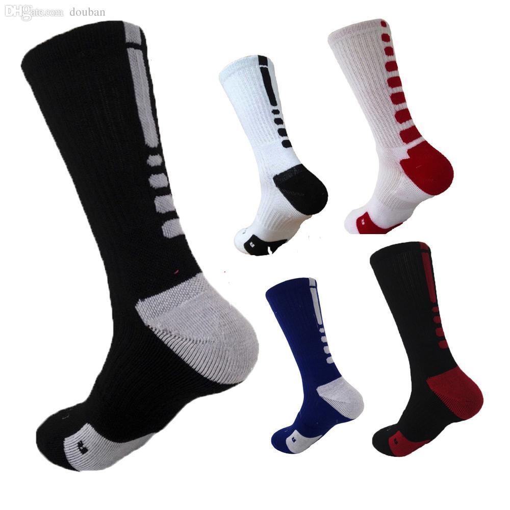 28d5d6851 2019 Wholesale New Elite Basketball Socks Men Long Outdoor CoolMax Sport  Socks Male Compression Running Socks Men Football Soccer Socks From Douban