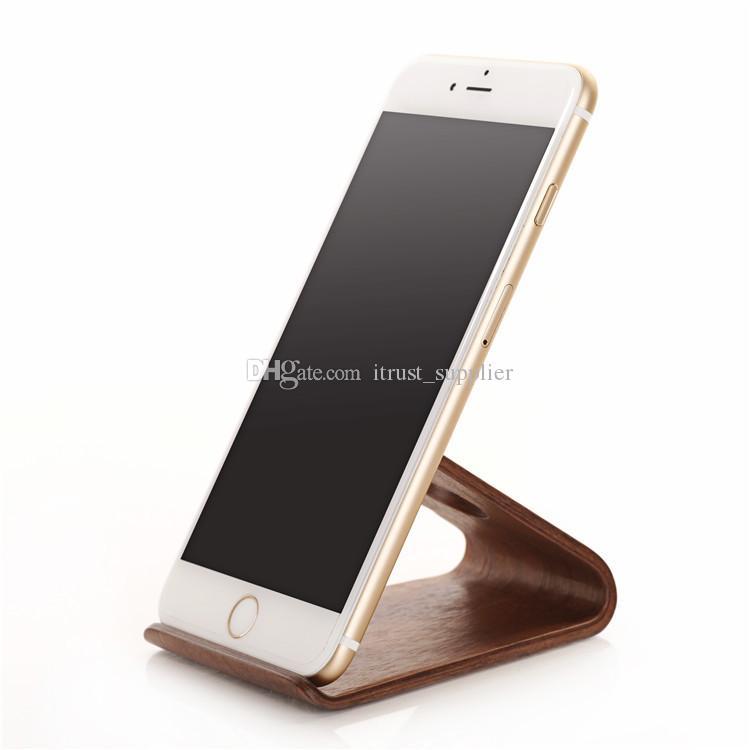 2016 Sıcak Orijinal SAMDI Ahşap Tutucu iPhone 6 6 için Standı artı Samsung Note3 Not4 S4 S5 ve tüm fazla 5 inç Cep Telefonu