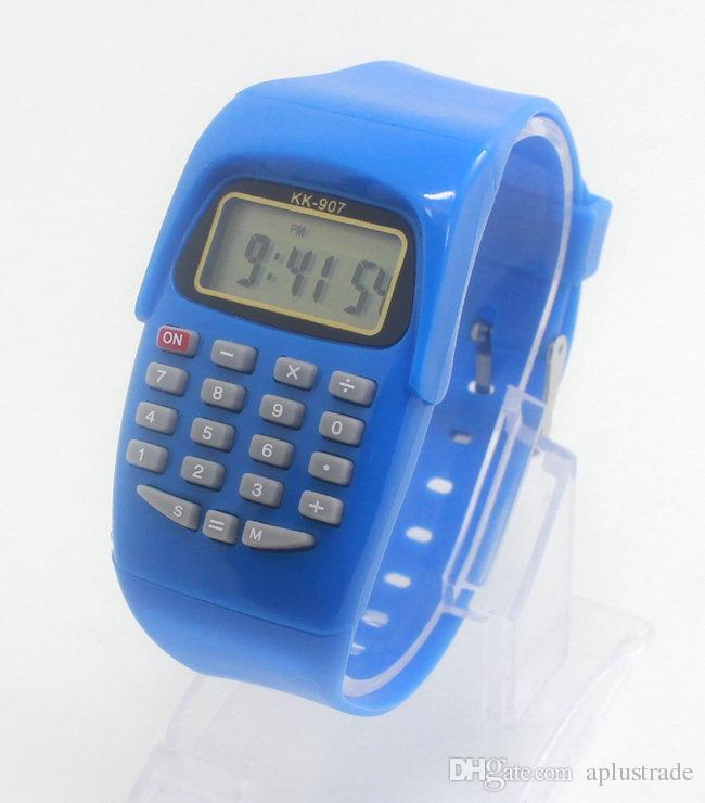 Mode led digitaluhr 2016 silikon lässige kinder kinder sportuhr multifunktions taschenrechner armbanduhr relogio uhr