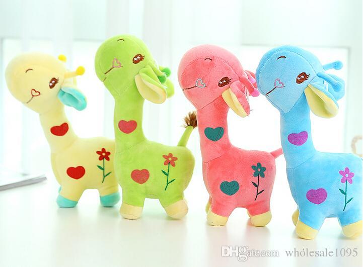18cm Unisex Cute Gift Plush Giraffe Soft Toy Animal Dear Doll Baby Kid Child Girls Christmas Birthday Happy Colorful Gifts