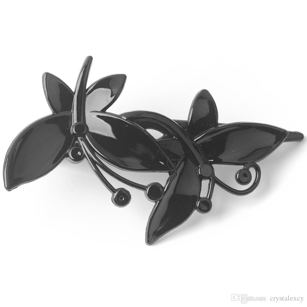 Hair Clip Hairpin duckbill clips wholesale black plastic headwear for lady women butterfly hairpieces