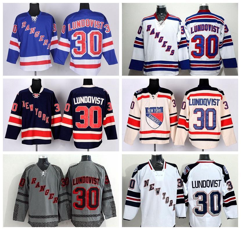 1ac8e37ba Cheap 30 Henrik Lundqvist Jersey New York Rangers Stadium Series Winter  Classic Lundqvist Hockey Jerseys Ice ...