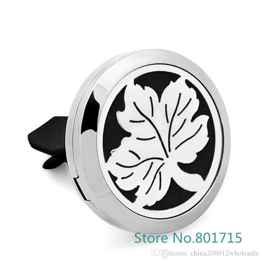 Family Tree Essential Oil Car Diffuser Locket Vent Clip 316 L Stainless Steel Pendant Perfume locket Magnetic Randomly Oil Pads as Gift