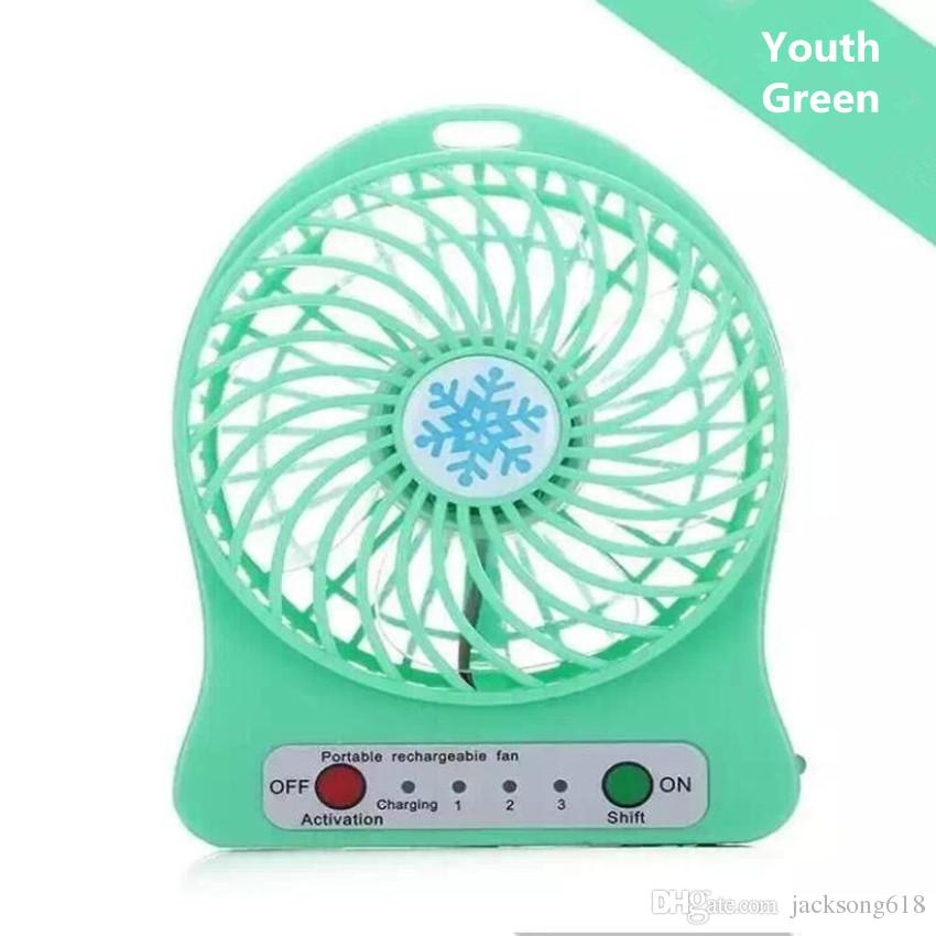 Mini-Protable-Ventilator-Multifunktions-USB-Rechargeable-Kindertisch-Ventilator LED-Licht 18650 Batterie-justierbarer Mini-USB-Ventilator des Verschiffen-3Speed ​​Wholesale