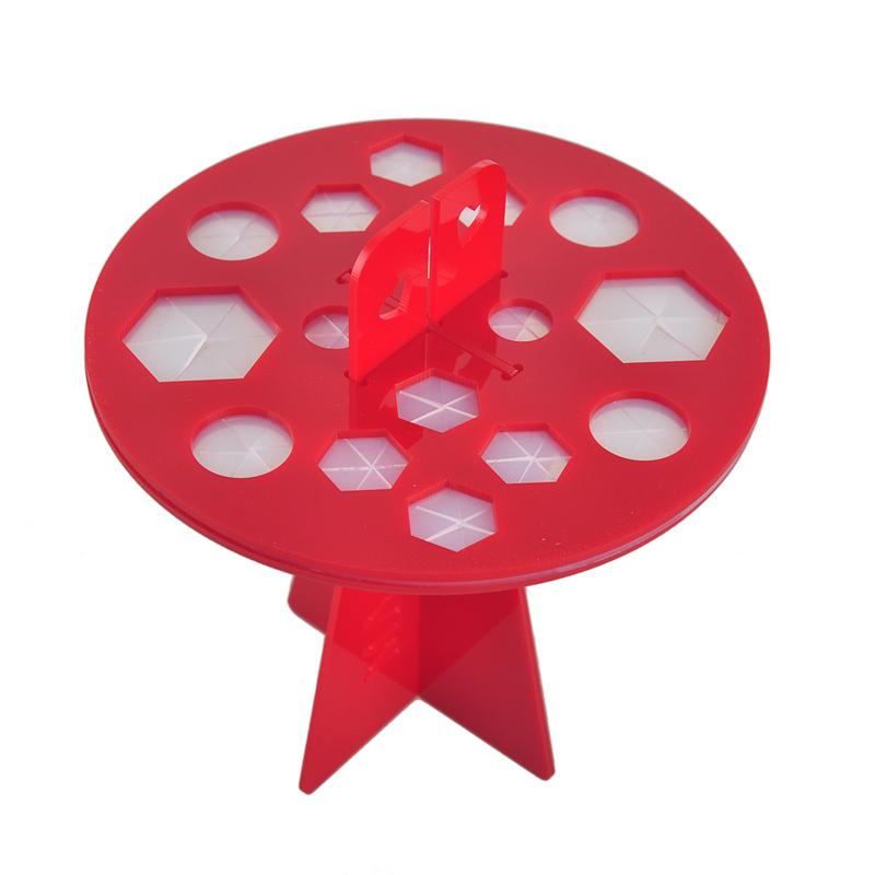 Cepillo de dientes Oval Pinceles de maquillaje Soporte de exhibición Cajas de almacenamiento de soporte Organizador Cepillo que muestra el soporte de plástico redondo soporte de acrílico soporte 2805066