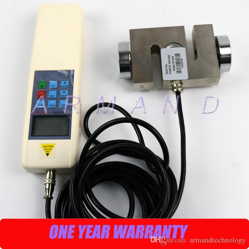 Dijital Kuvvet Test Cihazı Itme ve Çekme Kuvveti Ölçer HF-10K Dinamometre 10000N Kuvvet Gage Araçlar ve Ekipman