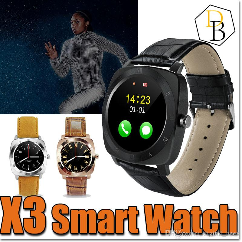 x3 Smartwatch Bluetooth Smart Watch dz 09 Android con 0.3M Fotocamera MTK6261D Smartwatch Android Phone Micro Sim TF Card Con pacchetto di vendita al dettaglio