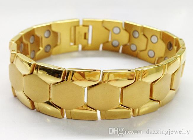 Braccialetti magnetici 210 * 18MM di salute del magnete del beneficio di forma fisica del braccialetto dei monili di alta qualità degli uomini della fascia larga di salute di sanità