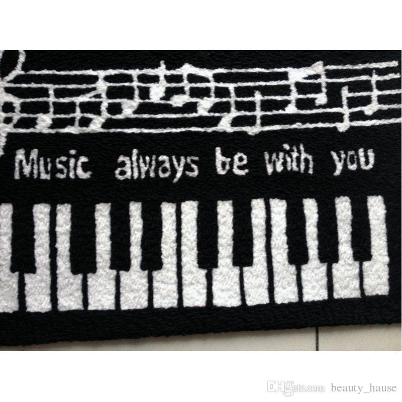 클래식 피아노 키보드 매트 손 걸려 생활 문 매트 카펫, 새로운 놓은 현관 앞에서 바보 층 Karpet 침실 양탄자 선물