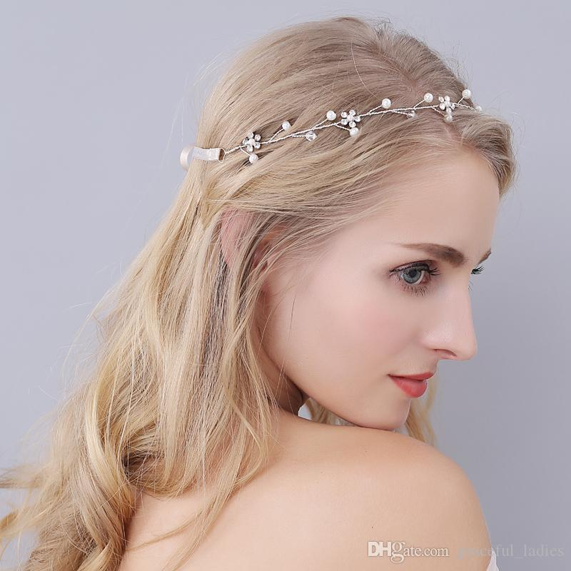 Hair Accessories For Brides Wedding Head Pieces Chinese Hair Accessories  Hair Jewelry Silver Leaf Tiara Wedding Headpiece For Brides Pearl Wedding  Headband ... e3bdb19cbc3