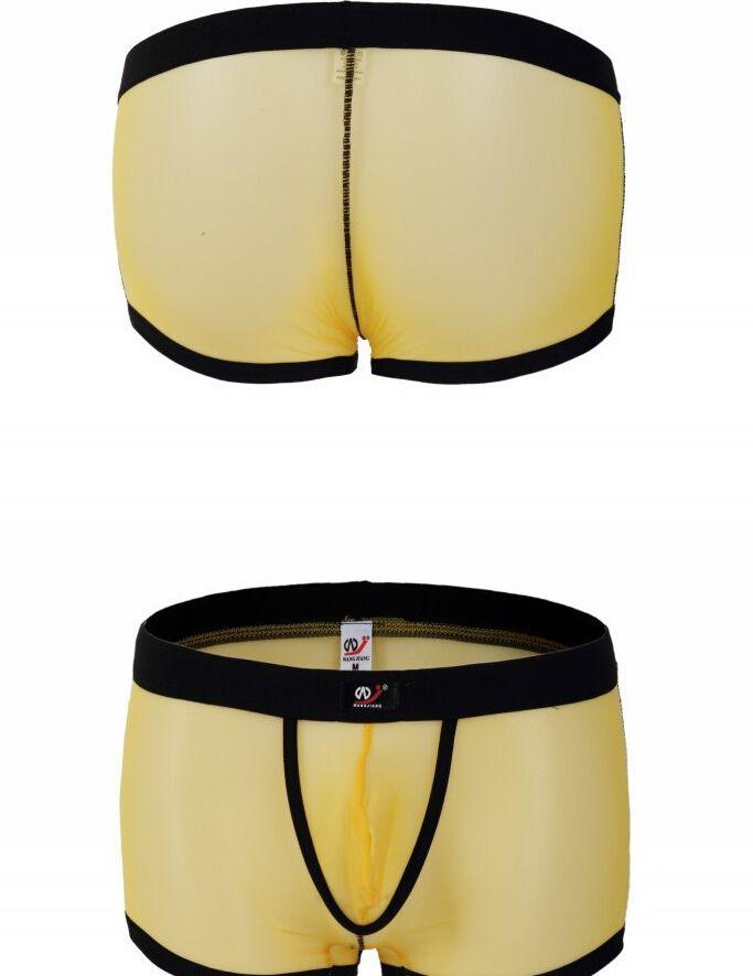 Biancheria intima da uomo Mutande da boxer Mutandina da uomo con bugle Sexy garza pantaloncini la novità Mesh underwear i scegli