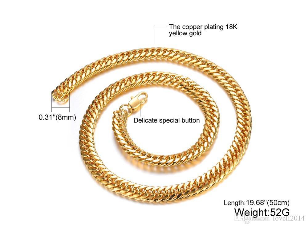 18k złota, sprzedaż modeli eksplozji w Europie i Ameryce, dominująca zgromadzenie Cukuang-Wycinek, Naszyjnik męski, KX627