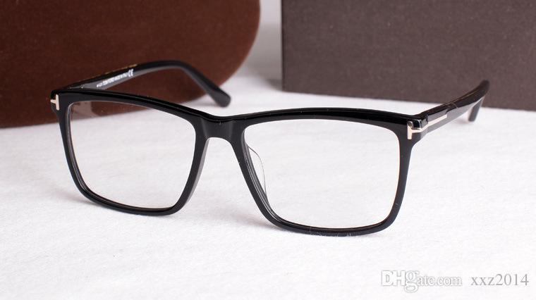 Moda Dikdörtgen büyük-jant TF5407 unisex gözlük çerçeve 54-17 yüksek kaliteli saf tahta tam jant reçete gözlük tam set vaka toptan