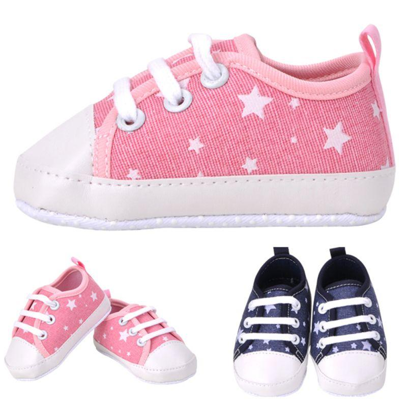 Wholesale- New Baby Girls Boys Soft Soled Crib Shoes Kids Sneakers ... e06c8ff077