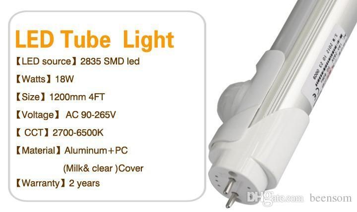BEENSOM 9W 18W LED Leuchtstoffröhre T8 Infrarot Bewegungsmelder 600MM 1200MM AC85-265V PIR Sensor T8 LED Licht Induktionslampe Lichttint