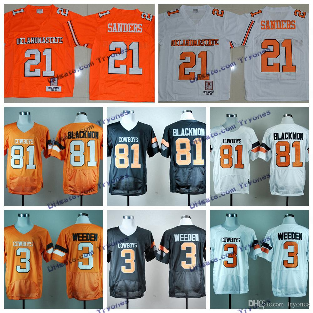 3d02a16e1 ... where to buy 2017 throwback oklahoma state college jerseys cheap barry  sanders 21 brandon weeden 3