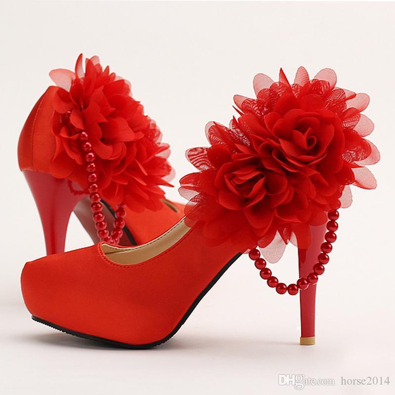 Branco Sain Sapatos De Casamento Apliques Dedo Do Pé Redondo 14 cm Nupcial Sapatos de Vestido Senhora Simples Salto Alto Evento Especial de Salto Alto