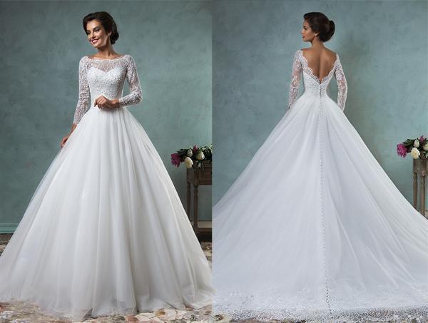 Discount Muslim Wedding Dresses 2016 Amelia Sposa Islamic