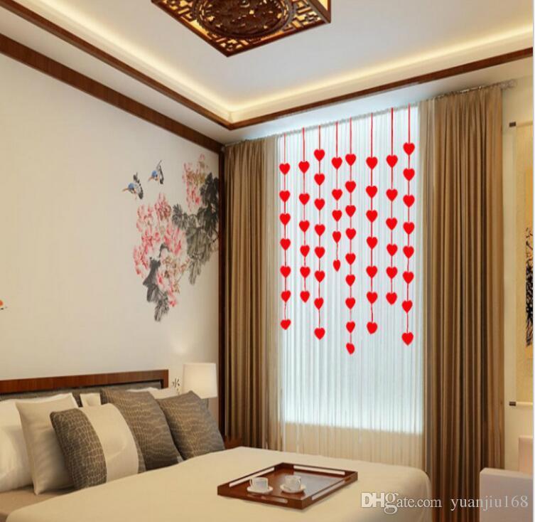 16 corações casamento romântico Decoração Casamento layout Sala de DIY não-tecido casamento Garland Amor Criativo Cortina Coração Suprimentos G922