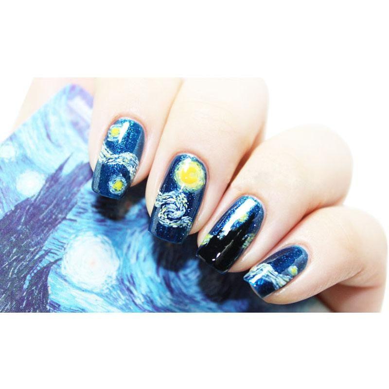 Top Seller /Sheet Diy Nail Art Sticker Mysterious Starry Sky Night ...