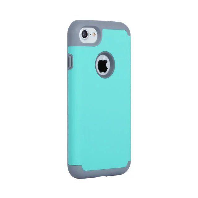 hybrid armor hard soft tpu pc case for iphone 7 plus i7 iphone7