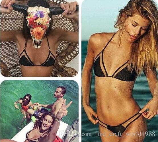 Frauen-Badehosen der neuen dreieckigen Masche des reizvollen Bikinibikinikini-Damebadebekleidungs heißen Außenhandel