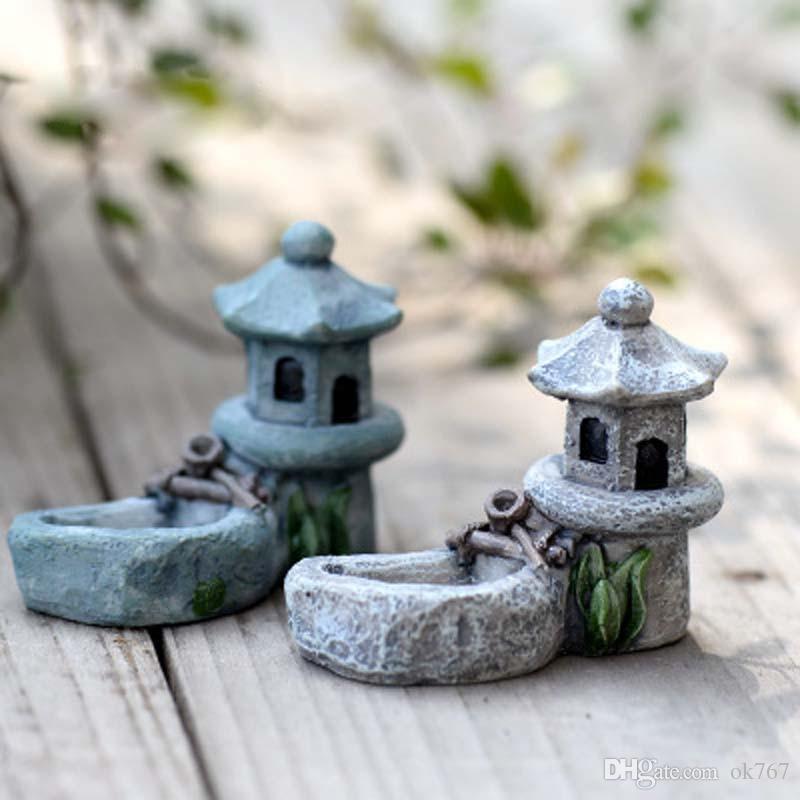 Vintage Pool artificiale Torre miniatura Fata Garden Home Case Decorazione Mini Craft Micro paesaggistica Accessori fai da te Decor