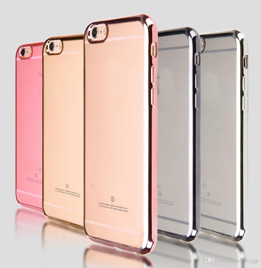 S7 Edge Case Soft Rubber Cell Phone Cases Electroplating TPU Bumper Case Cover for Samsung Galaxy S6 S6 Edge S7 S7 Edge A710