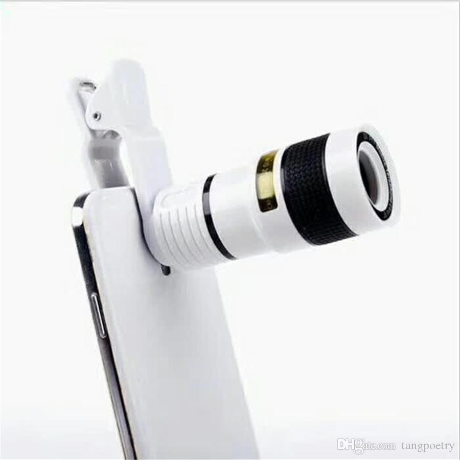 2017 Télescope Objectif 8x Zoom Caméra Optique Universelle Telephoto Len avec Clip pour Iphone Samsung HTC Sony LG Mobile Téléphone Mobile Intelligent DHL