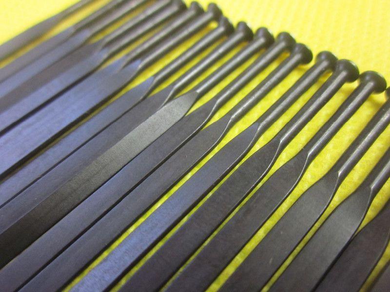 45 قطعة / الوحدة عمود PSR ايرو 1432 المتحدث سحب مستقيم T302 الفولاذ المقاوم للصدأ الأسود المتحدث مع الحلمات الحرة