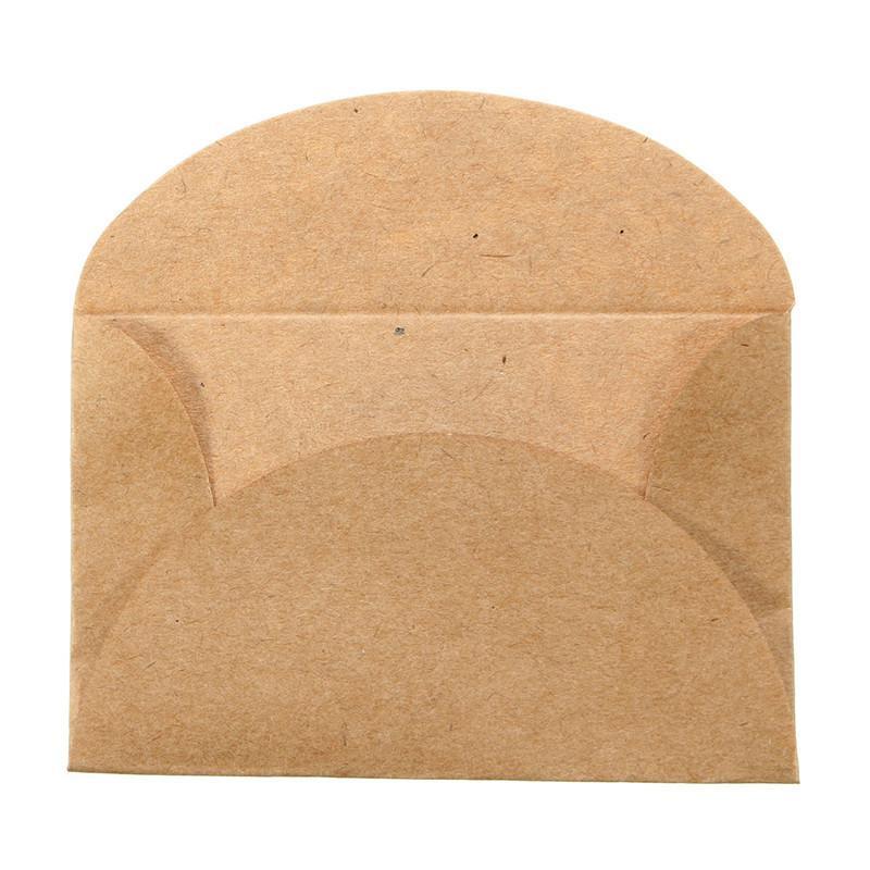 Acheter Vente En Gros Retro Cadeau De Papeterie Denveloppe Papier Kraft A La Main Mini Pour Carte Visite Mariage 58