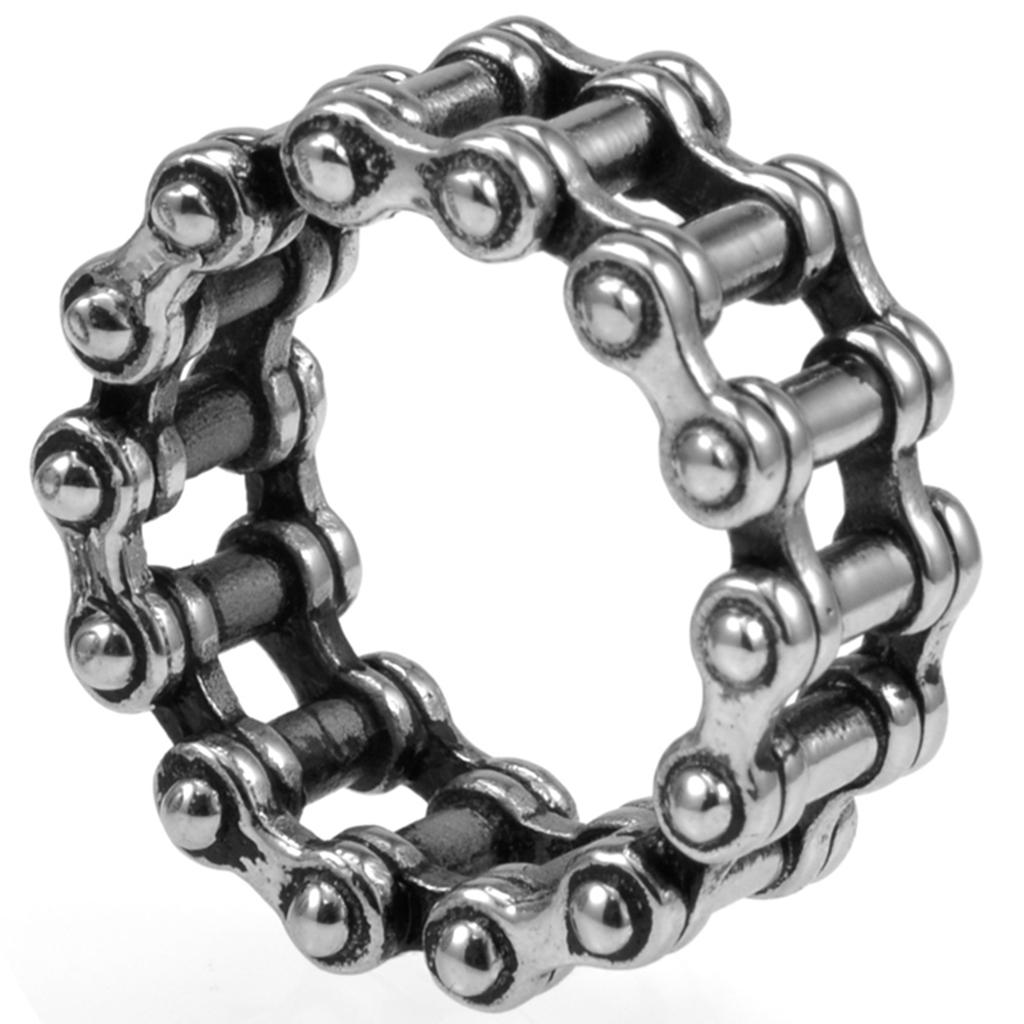 Motorcycle bike chain ring 14k black - 13mm Size 7 15 Retro Vintage Stainless Steel Biker Chain Ring Motor Cycle Cocktail Punk School Husband Father Gifts Promise Ring Diamond Engagement Rings