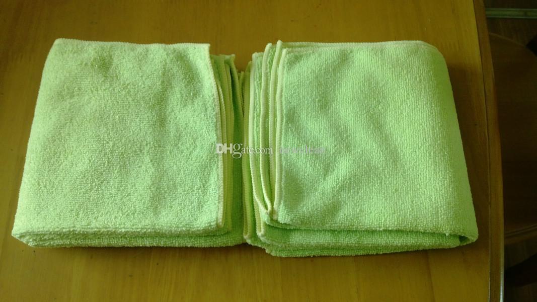 ستوكات تنظيف القماش / الكثير 32cmx32cm مجهرية نظيفة تنظيف منشفة منشفة السيارات Scrubing الصبح الملابس اليد منشفة ماجيك القماش