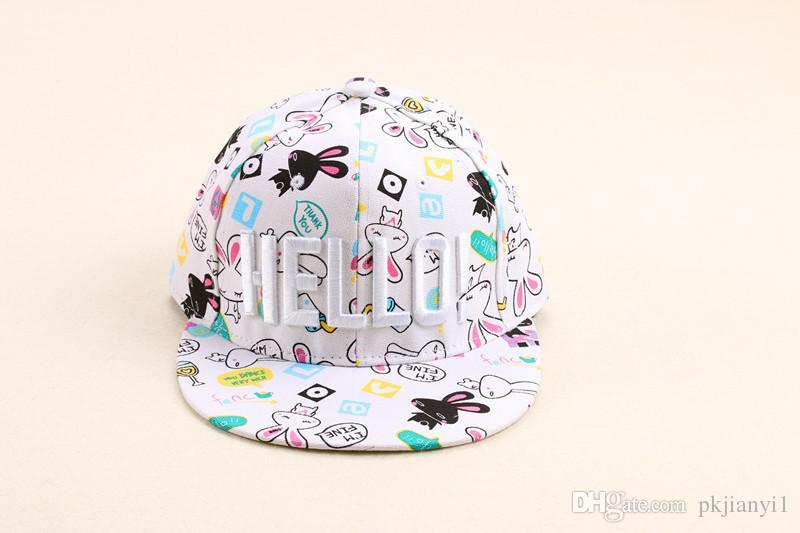 f4714404ff4 2015 HELLO Cute Little Rabbit Korean Version of College Wind Ms. Outdoor  Porch Female Casual Letter Embroidery Hip-hop Hat New Fashion Korean  Version of the ...
