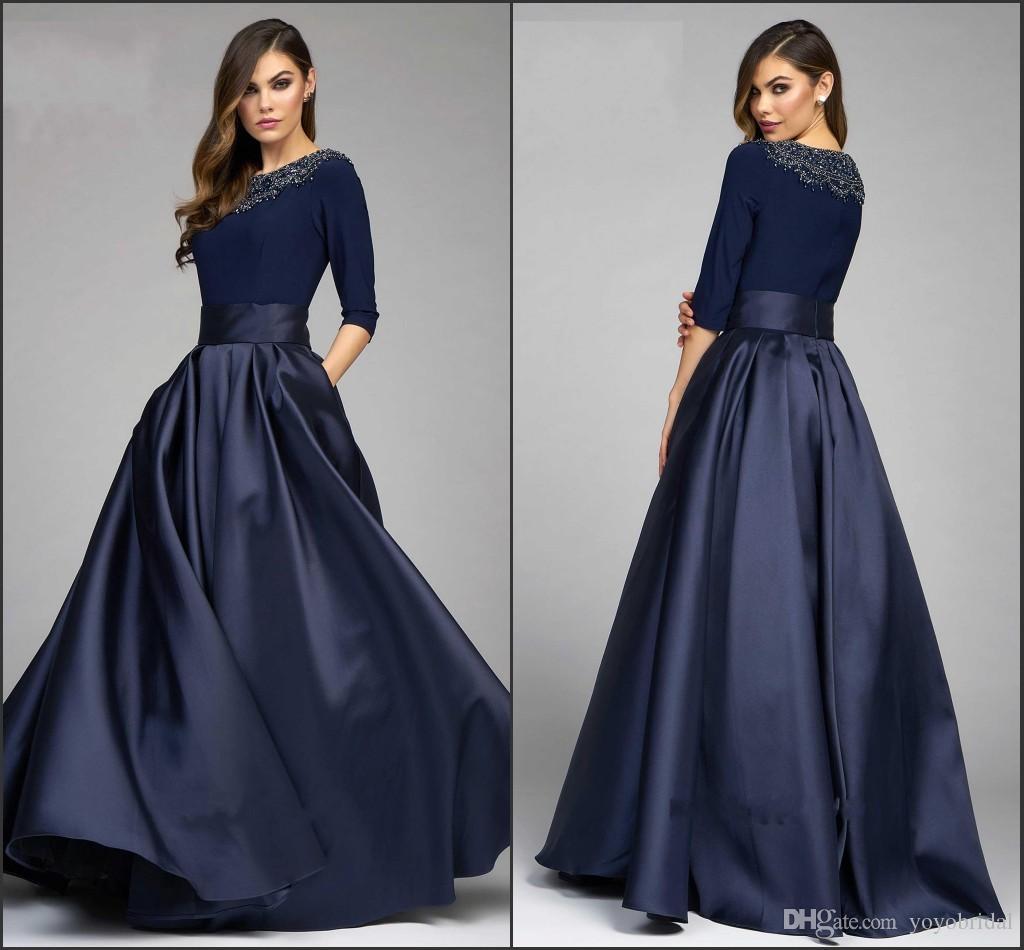 Designer Cocktail Dresses: Vintage Navy Designer Mother Of The Bride Groom Dresses