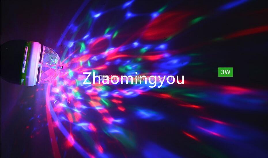 E27 3W 6W LED lamp RGB Auto Rotating Stage light Holiday Bulb AC85V-265V For Home Decoration Disco DJ Party Dance lighting