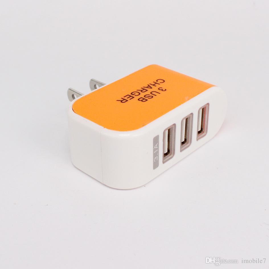 Nouveau chargeur USB Glow 3 Chargeur multifonction de voyage pour chargeur de téléphone portable 2A