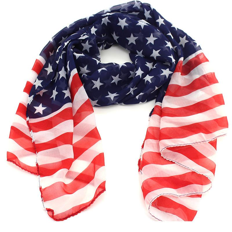 USA American Flag Bandana Scarf Head Wrap Hat 160x70 Star Stripes Red Blue White