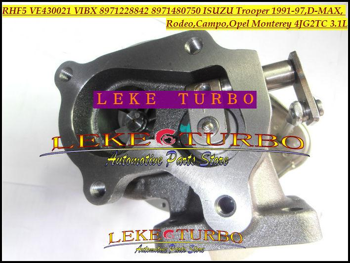 RHF5 VE430021 VIBX 8971228842 8971480750 ISUZU Trooper 1991-97,D-MAX,Rodeo,Campo,OPEL Monterey 4JG2TC 3.1L turbocharger (7)