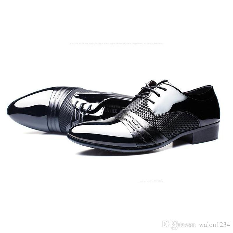 Uomini vestito scarpe da uomo scarpe da uomo scarpe piatte nere marroni traspiranti scarpe da ufficio formale da uomo più formale