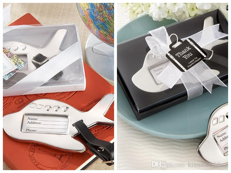 Wedding Gift For Guests Airplane Luggage Tag Wedding Favors For