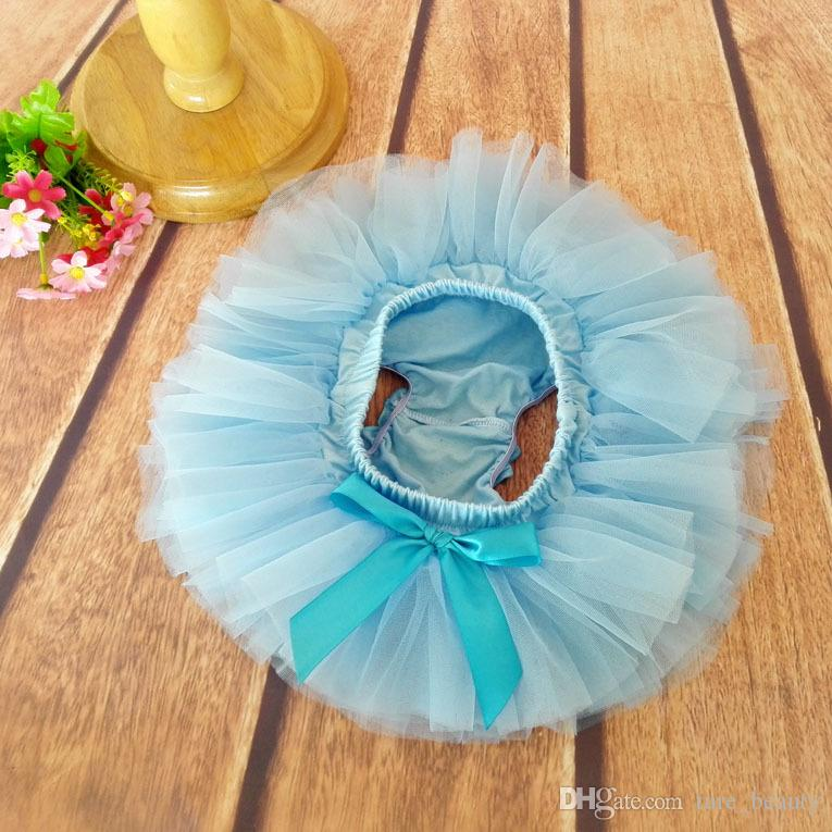 15% de desconto! 6 cores 2 pçs / set Meninas Do Bebê Tutu Saia + Headband set Infantil bolha Dance ball Gown Ballet Saia Recém-nascidos Fotografia adereços BN