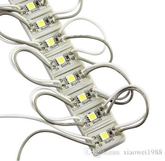 5050 Módulo LED SMD 12V, 1LED, resistente al agua para la letra de canal del LED Envío gratis Rojo, Amarillo, Azul, Color Verde