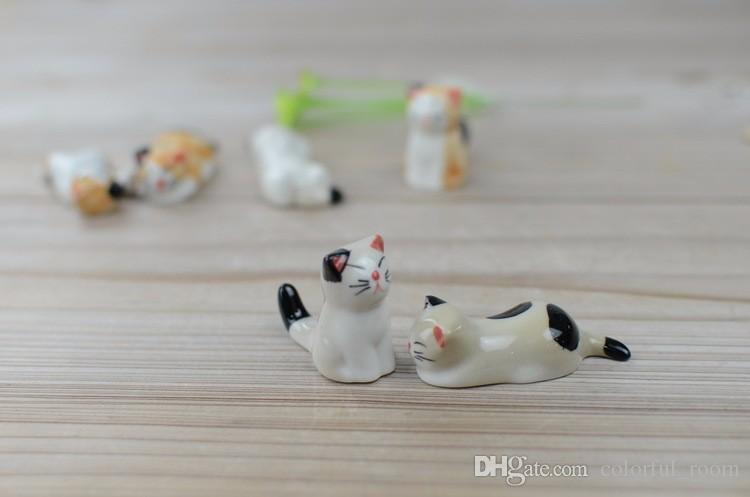 Artificial mini cat porcelain ornament fairy garden miniatures gnomes moss terrarium decor resin crafts bonsai home decor for DIY Zakka