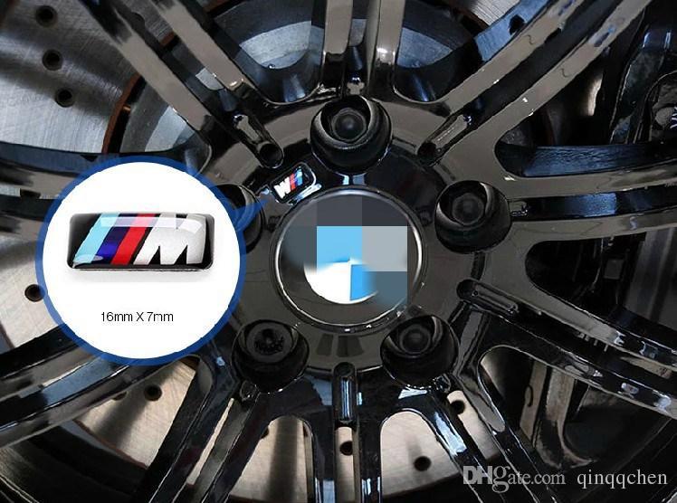 100 unids Tec Sport Rueda Insignia 3D Emblem Sticker Adhesivos Logo para bmw Serie M M1 M3 M5 M6 X1 X3 X5 X6 E34 E36 E6 car styling stickers
