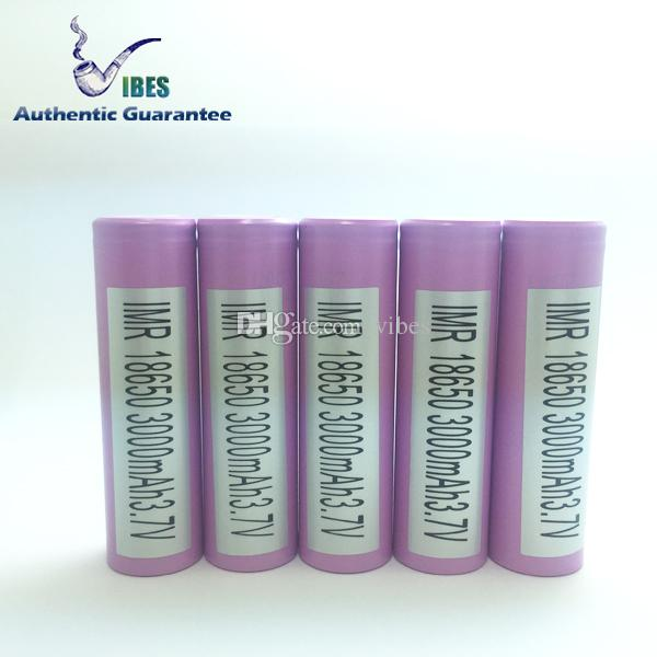 Authentic INR18650 - 30Q 18650 3000mAh 3.7V Lithium-ion Battery 20A High Drain Discharge Samsung 18650 Rechargeable Batteries