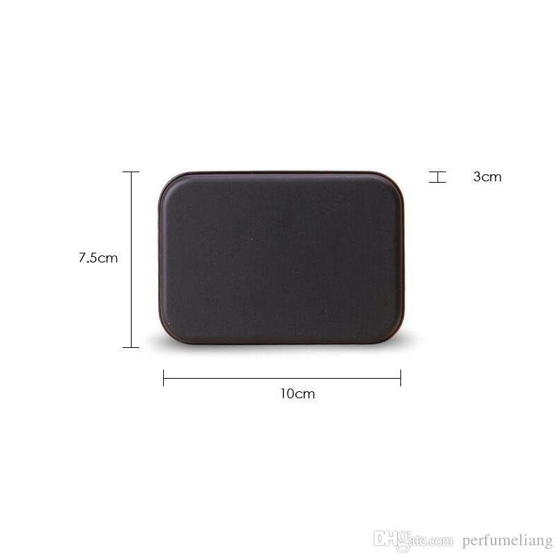 사각형 주석 상자 검은 금속 컨테이너 주석 상자 캔디 쥬얼리 카드 저장 상자 선물 포장 포장 ZA4830