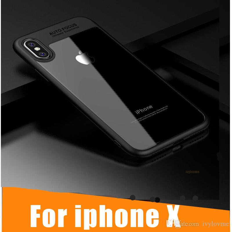 d33b2414d13 For IPhone X Case, Slim Full Protective PC & TPU Silicone Cover Case ...